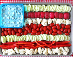 Flag Vegetable Tray